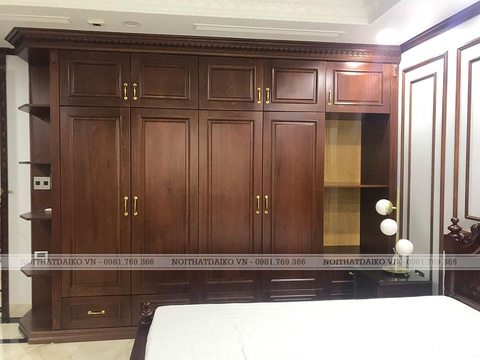 Tủ quần áo phòng thay đồ bằng gỗ Plywood nhập khẩu châu Âu