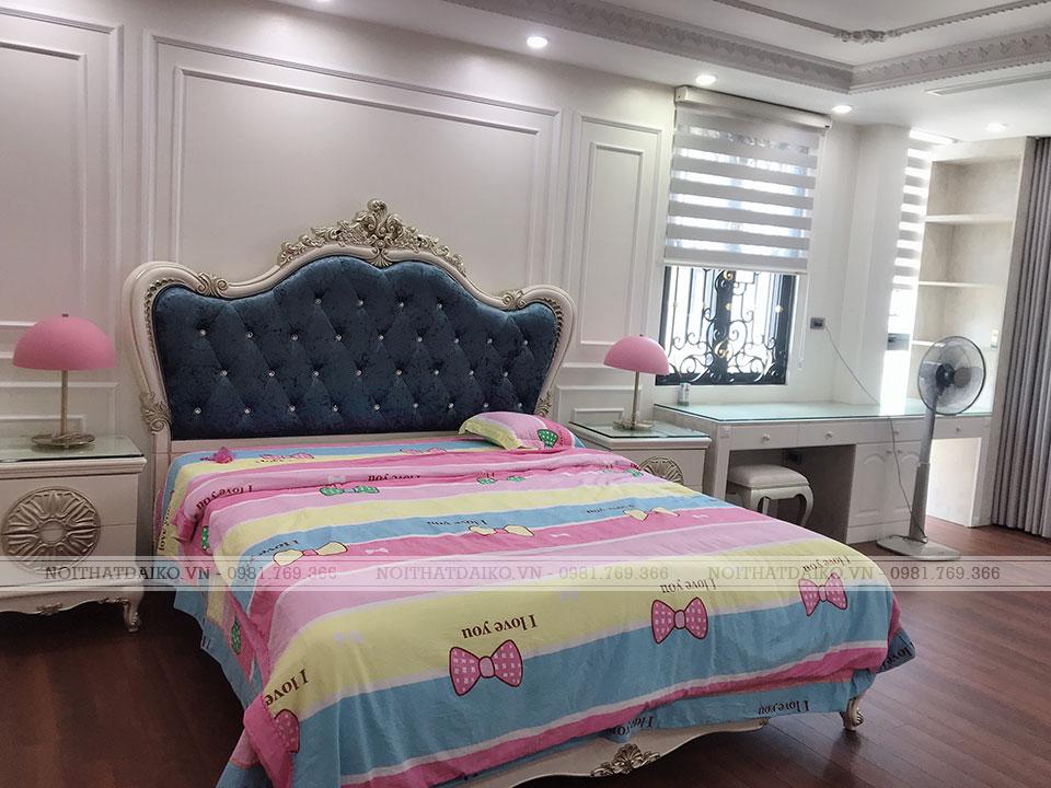 Kệ đầu giường theo phong cách Châu Âu hiện đại