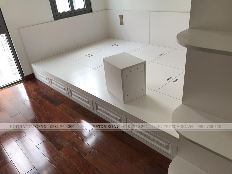 Giường gỗ Plywood với rất nhiều ngăn để đồ bên dưới