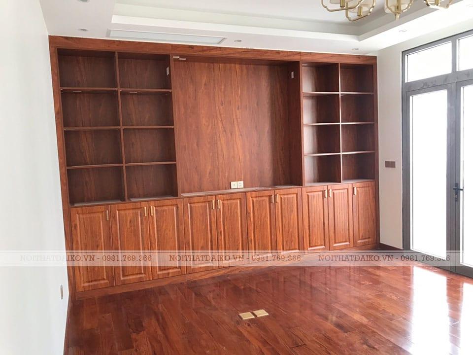 Tủ trang trí với gỗ Plywood