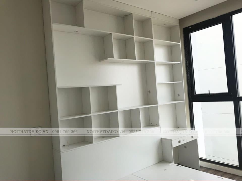 Tủ trang trí với gỗ HDF phủ PVC